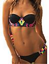 Femei Bikini Femei Cu Susținere Monocolor / Floral Push-up Polyester