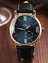 Bărbați Ceas de Mână Quartz Piele Bandă Negru Maro