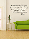 Cuvinte & Citate Perete Postituri Cuvinte și citate autocolante de perete Autocolante de Perete Decorative, Vinil Pagina de decorare de
