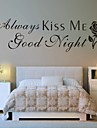 Abstrait Romance Mode Mots & Citations Fantaisie Stickers muraux Autocollants avion Autocollants muraux decoratifs, Vinyle Decoration