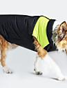 Hund Kappor Väst Hundkläder Färgblock Gul Grön Blå Rosa Cotton Kostym För husdjur Herr Dam Vindtät Håller värmen