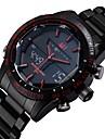 ASJ Bărbați Ceas de Mână Japoneză Alarmă / Calendar / Cronograf Oțel inoxidabil Bandă Lux Negru
