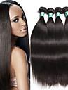 Brasilianskt hår Rak Hårförlängning av äkta hår 4pcs Mjuk Hög kvalitet Human Hår vävar Dagligen