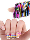 30pcs Foil Stripping Tape Nail Stamping Template Daily Fashion Punk High Quality