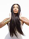 Perruque Synthétique Droite naturelle Partie médiane Haute qualité Noir Femme Sans bonnet Perruque de carnaval Long Cheveux Synthétiques