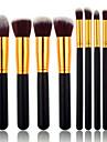 8pcs Pinceaux a maquillage Professionnel ensembles de brosses Poil Synthetique / Pinceau en Fibres Synthetiques Pinceau Moyen / Petit