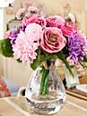 10 ramură Mătase Margarete Trandafiri Față de masă flori Flori artificiale