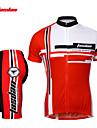 TASDAN Herr Kortärmad Cykeltröja med shorts - Röd Blå Cykel Shorts Tröja Klädesset, Snabb tork, Andningsfunktion, Svettavvisande,