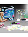 YIJIATOYS Desen Toy Mese de Jucărie pentru Desenat Jucarii Iluminat LED Florescent #D Magie 3D Plastic ABS Hârtie 100 Bucăți Cadou