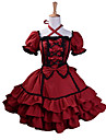 Princess Gothic Lolita Dress Sweet Lolita Dress Women\'s Girls\' Dress Cosplay Red Ball Gown Puff / Balloon Sleeve Short Sleeve Mini Plus Size Customized Costumes