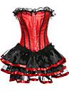 dantela pentru femei, corset set-color, dantelă