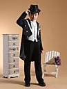 Negru/Argintiu Negru+Auriu Bumbac Costum Cavaler Inele - 6 Include Jacketă Pantaloni Vestă Brâu Cămașă Papion