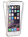 Pentru iPhone 8 Plus iPhone 7 iPhone 7 Plus iPhone 6 iPhone 6 Plus Carcase Huse Transparent Corp Plin Maska Culoare solidă Moale TPU