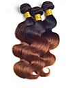 "3pcs / lot 8 ""-24"" brasiliansk jungfru hårfärg 1b / 30 kroppsvåg 100g / styck raw human hair weaves"
