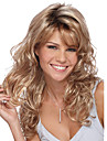 Parrucche sintetiche Ondulato naturale Con frangia Capelli sintetici Parte laterale Biondo Parrucca Per donna Medio Parrucca di Halloween