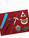 Mer accessoarer Inspirerad av The Legend of Zelda Cosplay Animé/ Videospel Cosplay Accessoarer Nyckelring Silver Legering Man