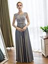 Coloană / Teacă Lungime Podea Dantelă Satin Bal Seară Formală Rochie cu Dantelă de Embroidered bridal