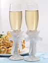 Sticlă fără Plumb Prăjire Flutes 1 pair Nepersonalizat Cutie de Cadouri