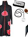 Inspirerad av Naruto Hidan Animé Cosplay-kostymer cosplay Suits Mer accessoarer Tryck Kappa Mer accessoarer Till Herr