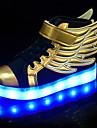 Băieți / Fete Pantofi Sintetic Primăvară / Vară / Toamnă Confortabili / Pantofi Usori Adidași Dantelă / LED pentru Negru