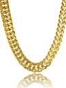 Bărbați Lănțișoare Circle Shape Line Shape Placat cu platină Placat Auriu Umplute cu Aur Aliaj Personalizat costum de bijuterii Bijuterii