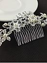 Pentru femei Floral Elegant & Luxos, Cristal Imitație de Perle Pieptene Păr