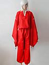 Inspirat de InuYasha Inu Yasha Anime Costume Cosplay Costume Cosplay Kimono Mată Manșon Lung Vârf Pantaloni Centură Pentru Bărbătesc