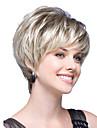 Парики из искусственных волос Прямой Стиль Стрижка боб Парик Блондинка Блондинка Искусственные волосы Жен. Блондинка Парик Короткие Парик для Хэллоуина