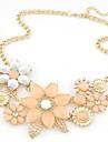 Pentru femei Coliere Flower Shape Perle Aliaj La modă European de Mireasă Festival/Sărbătoare Bijuterii Pentru Nuntă Petrecere Ocazie