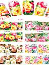 8 pcs Fleur / Dessin Anime / Mode Autocollant de transfert d\'eau / Bijoux a ongles Adorable Quotidien