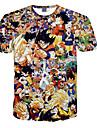 3d tricou Dragon Ball Goku fiul costume de imprimare cosplay tricou de îmbrăcăminte tocilara rundă gât cu mâneci scurte pentru bărbați / femei