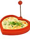 în formă de inimă silicon inel formă de ou și filtru de clătite ou prăjit prăjire mucegai clătite de gătit (de culoare aleatorii)