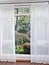 Sheer Curtains Shades Living Room Solid Colored Polyester Print
