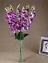 1 Gren Polyester Orkidéer Bordsblomma Konstgjorda blommor