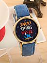 Pentru femei Ceas de Mână Quartz Piele PU Matlasată Negru / Alb / Albastru cald Vânzare Analog femei Vintage Modă - Rosu Verde Albastru Un an Durată de Viaţă Baterie / Tianqiu 377