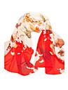 Pentru femei Imprimeu Vintage Draguț Petrecere Casual, Șifon - Dreptunghi
