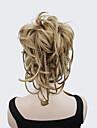 Klämma in Naturligt vågigt Hästsvans Syntetisk Hårstycke HÅRFÖRLÄNGNING 8 tum Blond