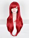 Parrucche sintetiche Liscio Capelli sintetici Parrucca Per donna Lungo Senza tappo Rosso