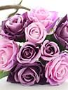 Flori de Nuntă Rotund Trandafiri Buchete Nuntă Albastru / Roz / Verde / Alb / Mov / Șampanie / Multicolor Satin / Mătase