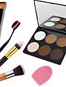 6 barev Pudry Pevný pudr Rozjasňovače a bronzery Suché / Kombinace / Mastný Voděodolný / Bělící / Kapsamı Oči / Face Čína Zrcadlo Makeup Kosmetický