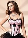 Feminin Corset sub Bust / Corset peste Bust / Plus Size Pijamale,Mediu Nailon / Polyester-Sexy / Ridicare / Dantelă / Imprimeu / Retro