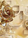 Blommig Hem-dekoration Lyx Tapetsering, Duk Material lim behövs Väggmålning, Tapet