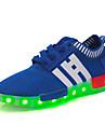 Băieți Fete Pantofi Tul Primăvară Vară Toamnă Iarnă Adidași Dantelă Găuri LED Pentru De Atletism Casual Bleumarin Negru Roșu Albastru