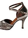 Latin-Pantofi de dans(Albastru / Violet / Argintiu) -NePersonalizabili-Damă