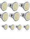 hkv® 3.5w gu10 gu5.3 e27 led lumina reflectoarelor mr16 60smd 2835 300-350 lm cald alb rece rece alb dc 12 ac 110 / 220v 10pcs