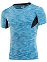 Herr T-shirt för jogging Snabb tork Bärbar Andningsfunktion Svettavvisande T-shirt Överdelar för Motion & Fitness Löpning 85% Polyester