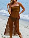 Pentru femei Spandex Plasă Diving Suit Mânecă până la Cot Fuste & rochii-Plajă Vara Solid