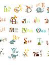 Djur Stilleben Mode Tecknat Fritid Väggklistermärken Animal Wall Stickers Klistermärken för kylskåp, Vinyl Hem-dekoration vägg~~POS=TRUNC