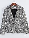 Pentru femei Mărime Plus Size Blazer Clasic & Fără Vârstă-Leopard,Stil Artistic