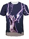Inspirat de Cosplay Cosplay Anime Costume Cosplay Cosplay T-shirt Imprimeu Manșon scurt Tricou Pentru Bărbați Pentru femei